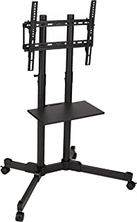 """AmazonBasics TV Trolley for 32-70"""" TVs with Swivel feature (Renewed)"""