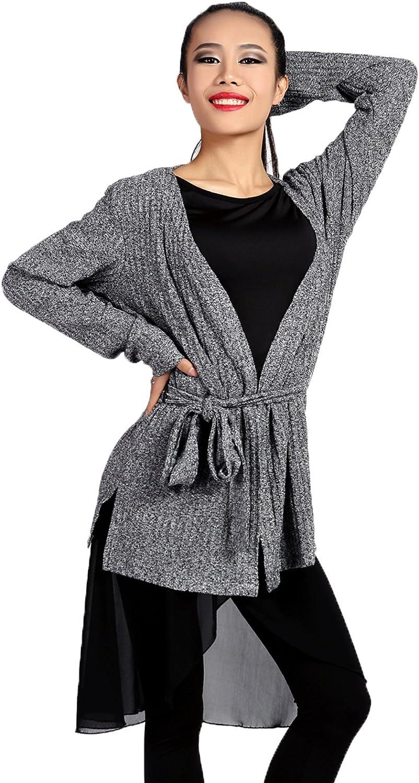 G1026 Latin Ballroom Modern Dance Professional Thread Knitting Cotton Tied Design Outwear