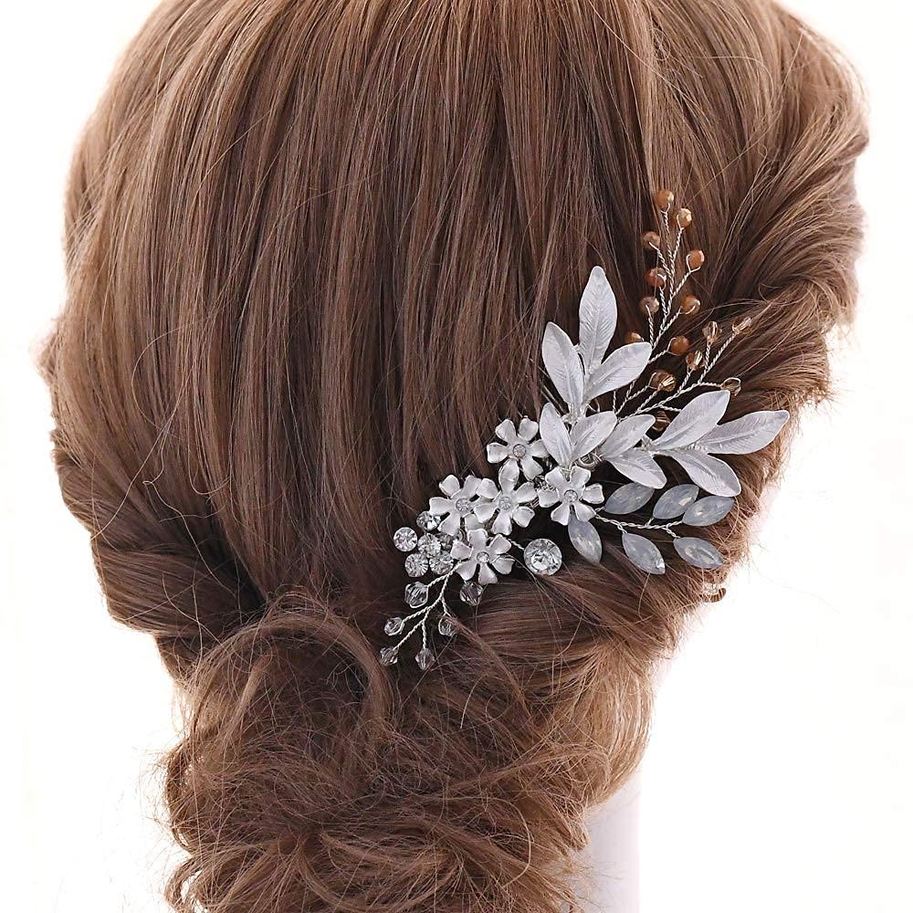 AMORARSI Wedding store Hair low-pricing Comb Rhinestone Bridal Clip Headpiece
