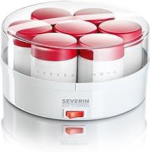 SEVERIN Yogurtera, Incl. 14 Tarros de 150 ml, Marcador de