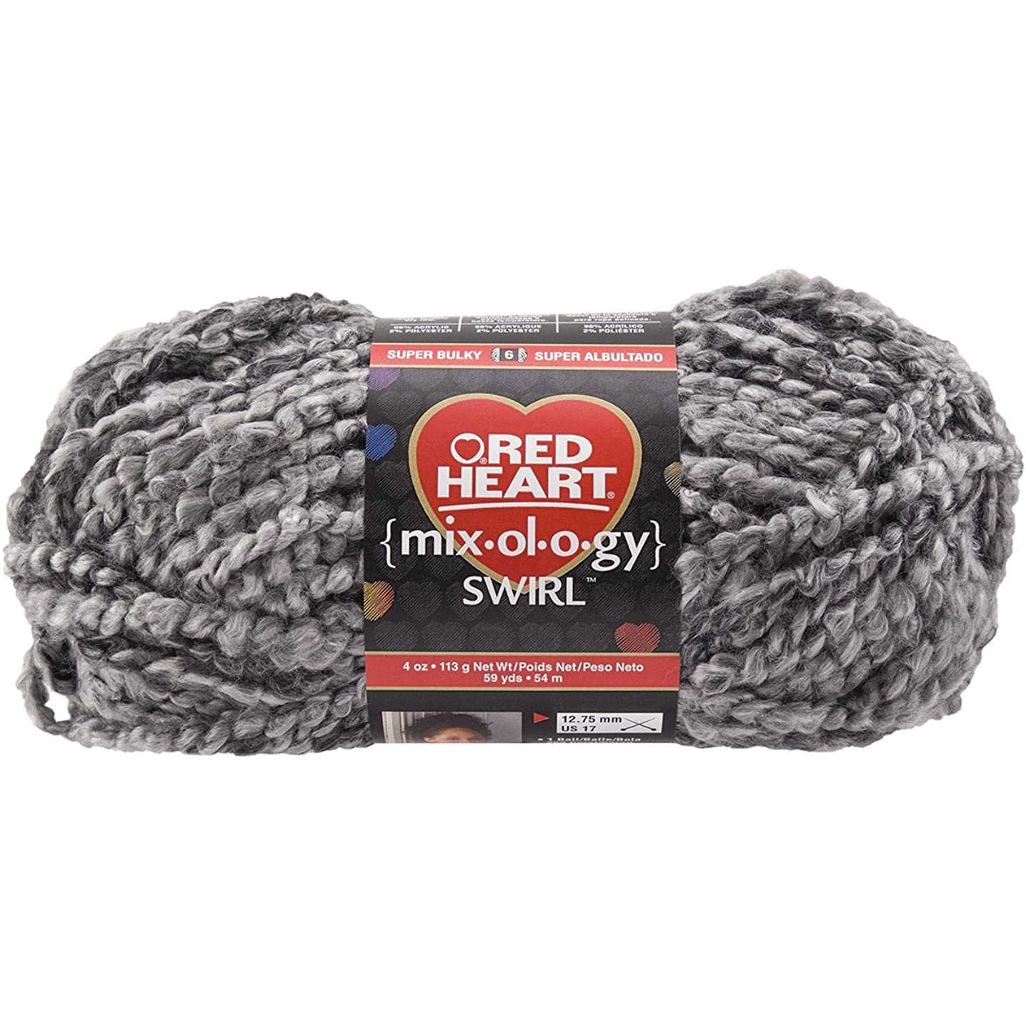 Red Heart Mixology Swirl Yarn-Moonlit