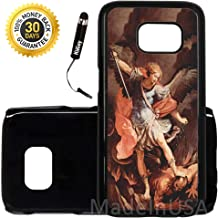 Custom Galaxy S7 EDGE Case (Saint Michael Religious) Edge-to-Edge Plastic Black Cover Ultra Slim | Lightweight by Innosub