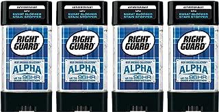 Right Guard Antiperspirant - Best Dressed Collection - Alpha - Clear Gel - Net Wt. 4.0 OZ (113 g) Per Stick - Pack of 4 Sticks
