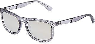 نظارات شمسية للجنسين DL026220C56 من ديزل - رمادي/دخاني - تأثير مرآة - مصنوعة بتقنية الحقن