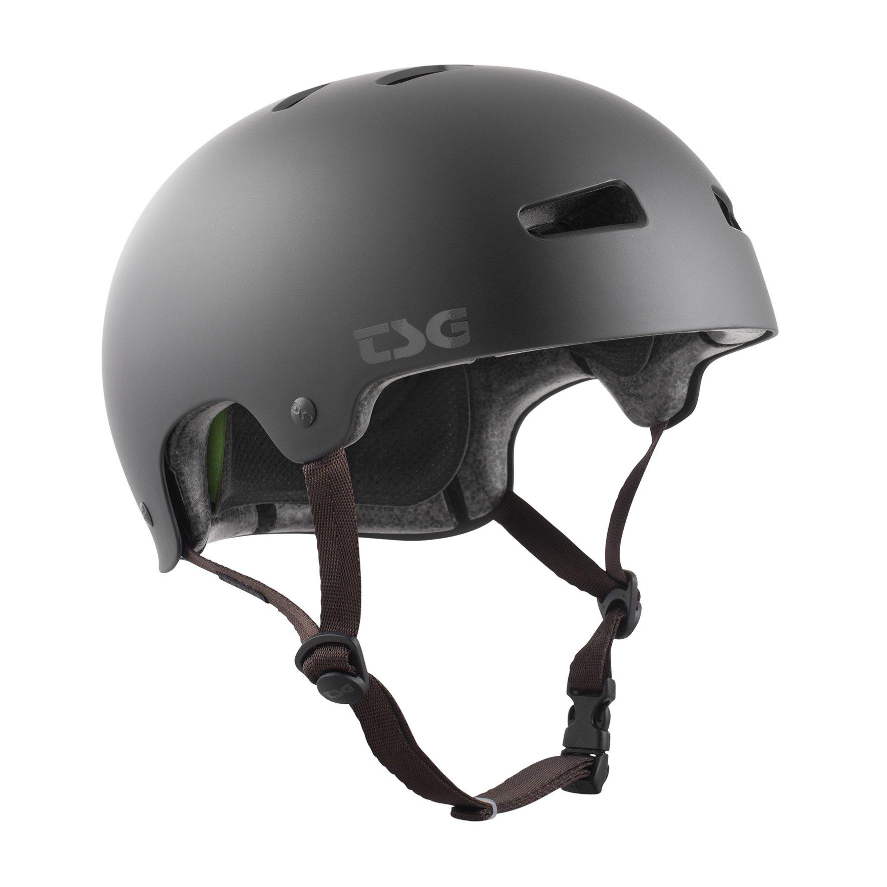 TSG Kinder Kraken Solid Color Helm, Satin Black, XXS/XS