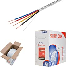 Cables Direct Online, Bulk 22/4 Solid Conductor Alarm Control Cable 500ft Fire/Security Burglar Station Wire Security (Unshielded), 22/4, Solid, 500ft)