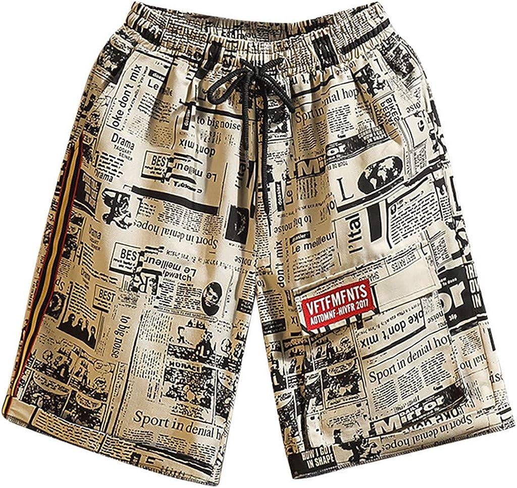 DIOMOR Fashion Graffiti Louisville-Jefferson County Mall Pattern Drawstring Shorts OFFicial shop Teen for B Men