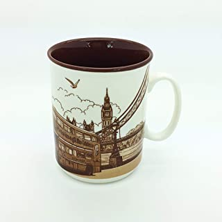 Sterling Product SP142B Premium Quality Embossed Printed 400 ml Coffee Mug, Ceramic, 400 milliliters
