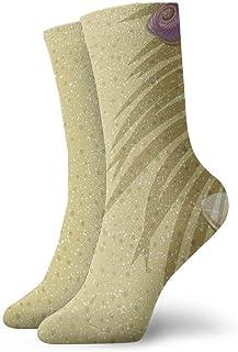 wwoman, Calcetines de vestir estampados para hombre y para mujer Calcetines coloridos coloridos divertidos de la novedad de arena 30 cm