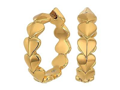 Kate Spade New York Heritage Spade Metal Heart Huggies Earrings (Gold) Earring