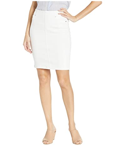 Liverpool 20 Chloe Pull-On Pencil Skirt (Bright White) Women