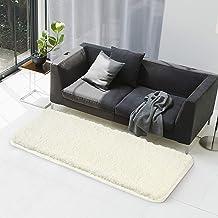 Bath Rug COSY HOMEER 60x24 Inch,Non-Slip Soft Thickness Shaggy Water Absorbent Bathroom Carpet,Machine Washable Rectangula...