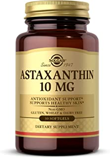 Solgar Astaxanthin 10 mg, 30 Softgels - Potent Antioxidant Protection, Supports Healthy Skin Glow - With Naturally Occurri...