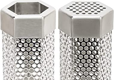 G.a HOMEFAVOR Pellet Smoker Tube, 12'' Stainless Steel BBQ Wood Pellet Tube Smoker 5 Hours of Billowing Smoke for All