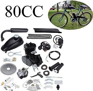 Ambienceo 80cc 2 ciclos de pedaleo Kit de conversión de bicicleta de gasolina para motor de gasolina para bicicleta motorizada negra