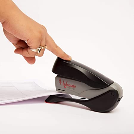 Infomate Feather Touch Effortless Easy Full Strip Multi Page Heavy Duty Stapler (Child Lock)