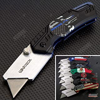 KCCEDGE BEST CUTLERY SOURCE EDC Pocket Knife Camping Accessories Razor Sharp Edge Utility Knife Box Cutter Folding Knife Camping Gear Survival Kit 57147
