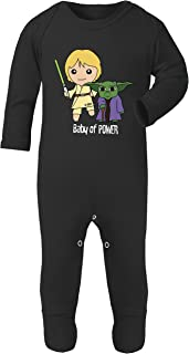 Star Wars Luke and Yoda Baby of Power Print Unisex Footed Romper Sleep and Play