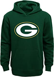 Green Bay Packers Youth Primary Logo Green Fleece Pullover Hoodie