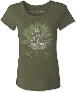 Super Buddha Women's Green Tara Scoopneck Graphic Tee