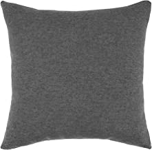 Mopio Modern Chic Square Throw Pillow Cover 18 x 18 inch (Dark Gray-Fossil)