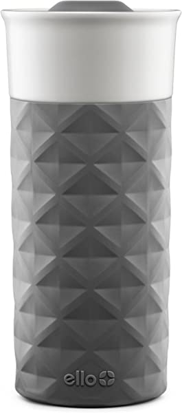 Ello Ogden BPA Free Ceramic Travel Mug With Lid 16 Oz