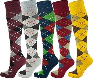 Mysocks, Calcetines de golf hasta la rodilla para hombre, caja de regalo 7 – 11
