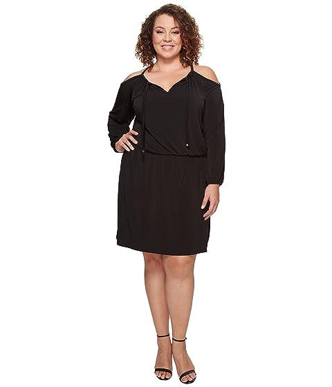 289b53a73c MICHAEL Michael Kors Plus Size Cold Shoulder Dress at 6pm