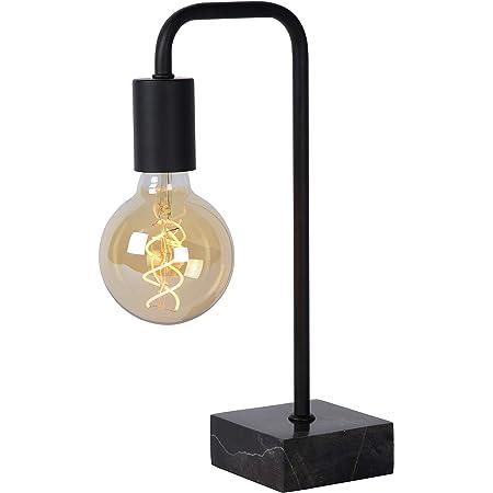 Lucide 45565/01/30 Lampe de table, Acier, E27, 40 W, Noir