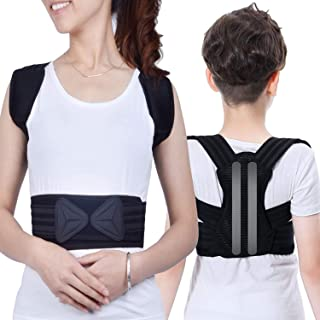 Professional Posture Corrector for Men, Women and Kids - Adjustable Comfortable Support Back Brace Providing Pain Relief for Neck, Back, Shoulders, Breathable Posture Brace for Back Support