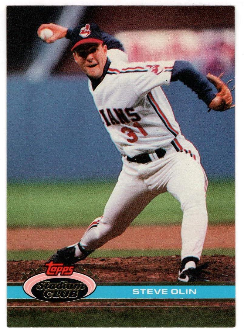 Steve Olin - Cleveland 5 ☆ popular Manufacturer OFFicial shop Indians Baseball 1991 Topps Card Stadiu
