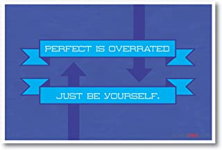 Perfect Is Overrated - Be Yourself - NEW Motivational Poster