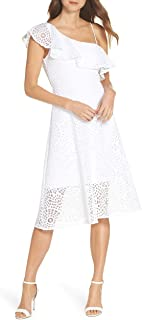 Womens Resort White Sea Urchin Terry Lace Callisto Dress, Size 0
