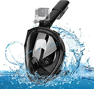 Epoch MakingFull Face Snorkel Mask 180° Panoramic View Snorkel Mask with Advanced Breathing System for Adult and Kids Snorkel Set