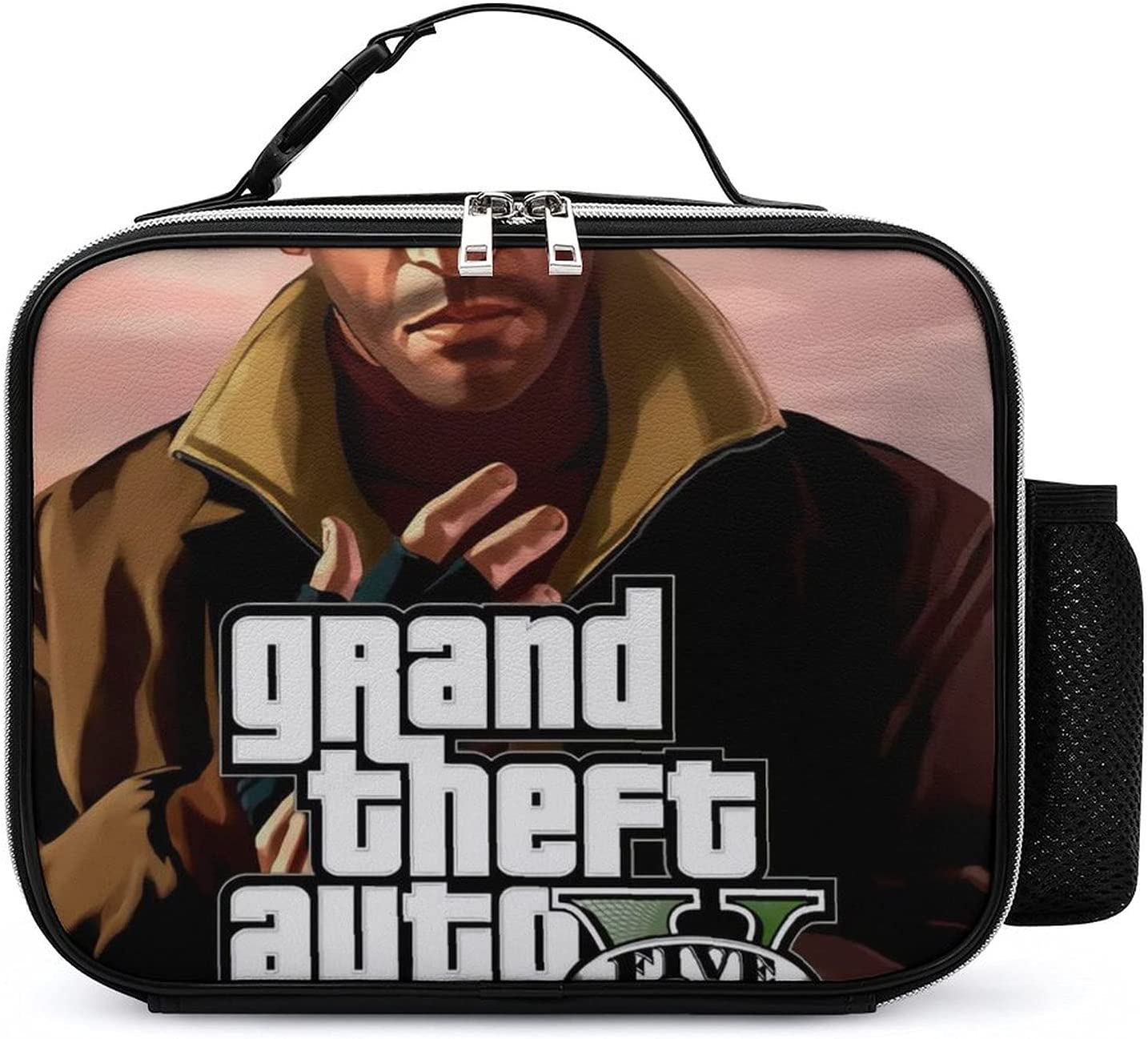 Grand Theft Auto Gaming New Orleans Mall Leather Lunch Seattle Mall Fit Women Men for Bag and
