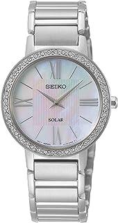 Seiko ladies Womens Analog Solar Watch with Stainless Steel bracelet SUP431P1