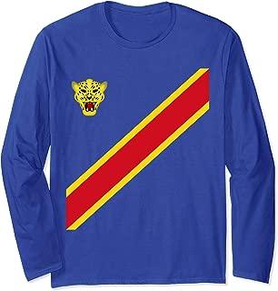 Congo Football Souvenir Flag Of DRC Leopards Proud Congolese Long Sleeve T-Shirt