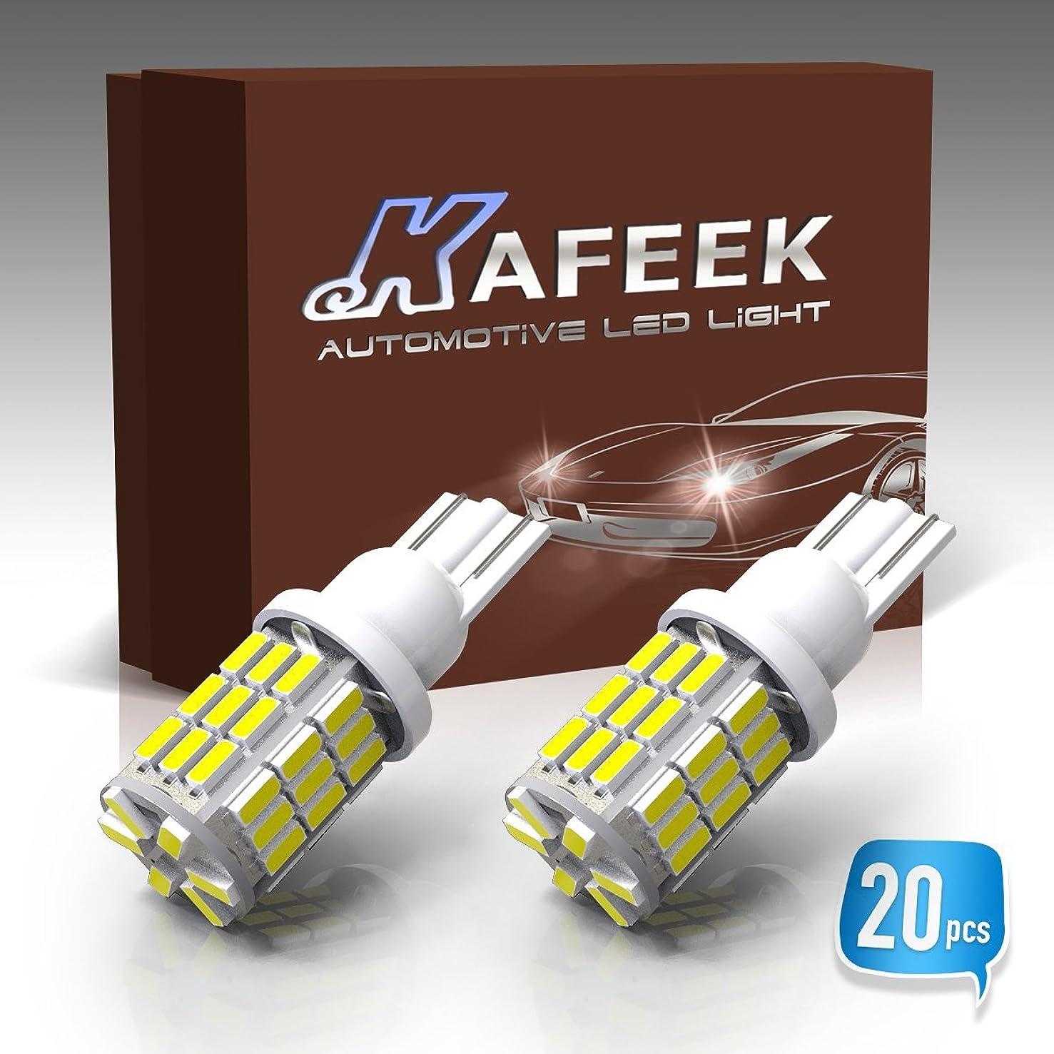 KAFEEK 20x RV Trailer T10 901 194 168 2825 912 LED Bulbs 12V Interior Light Backup Reverse Light 42-3014 Chipset,White