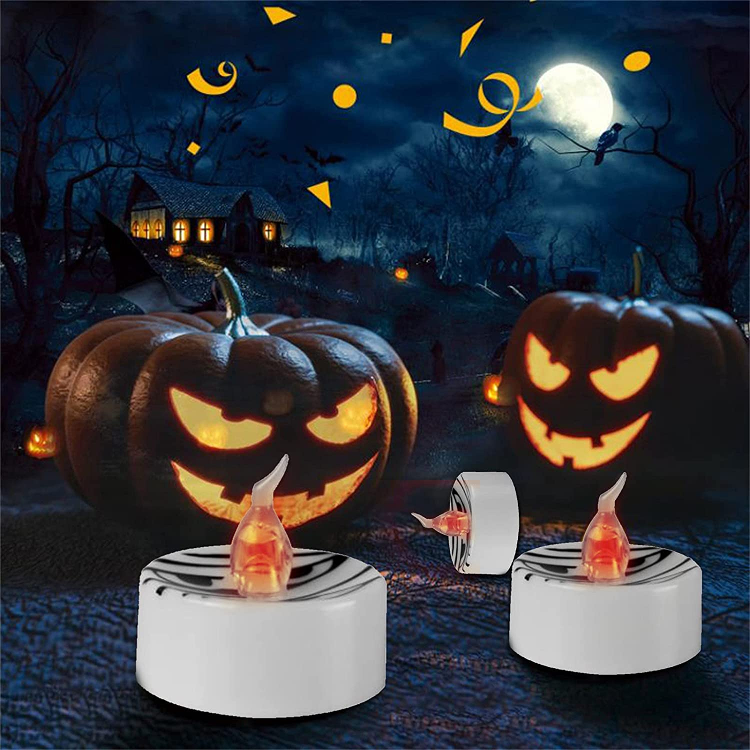 Halloween Decoration Small Tea NEW before selling Direct sale of manufacturer ☆ Ghost Candle Led Elect Face