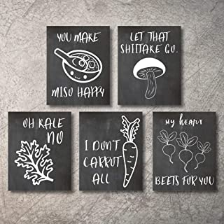 Wall Decor Kitchen Pictures Modern Farmhouse Deco Home Eat Signs Coffee Decorations Shabby Chic Art Sign Prints for Living Kitchen Decor Adornos Cocina Shelves Rustic Decore UNFRAMED (Black, 5x7)