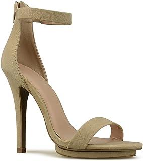 Premier Standard Women's Strappy Kitten High Heel - Formal, Wedding, Party Simple Classic Platform Pump