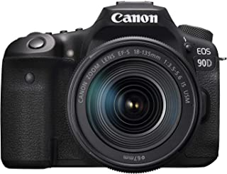 Canon 90D Digital SLR Camera with 18-135 IS USM Lens - Black