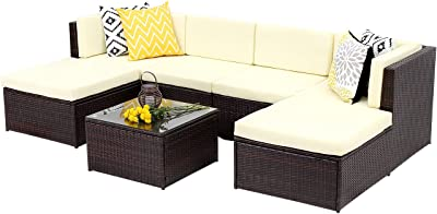 Amazon Com Best Choice Products 3 Seat Outdoor Wicker Sofa Couch