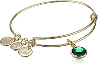 Alex and Ani Swarovski May Emerald Bangle