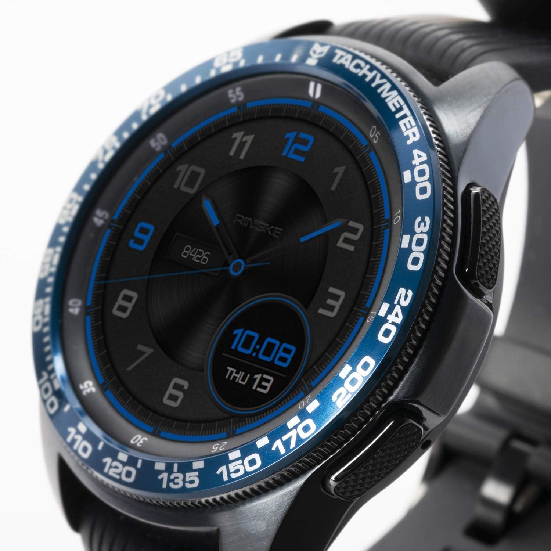 Ringke Bezel Styling para Galaxy Watch 42mm / Gear Sport, Bisel Anillo Cubrir Anti-rasguños Proteccion - [Aluminio] GW-42-09