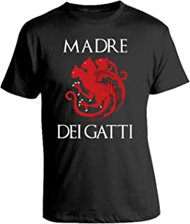 ad5f14988 bubbleshirt Tshirt Madre dei Gatti - Mother of Cats - Humor - Game of  Thrones -