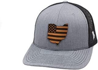 Ohio Patriot' Leather Patch Hat Curved Trucker
