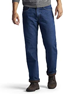 Men's Fleece and Flannel Lined Relaxed-Fit Straight-Leg...