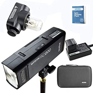 Godox AD200 2.4G TTL Bolsillo Flash 200Ws TTL HSS 1 / 8000s Flash Con 2900mAh Litio Batería Para Nikon Canon Sony Fujifilm...