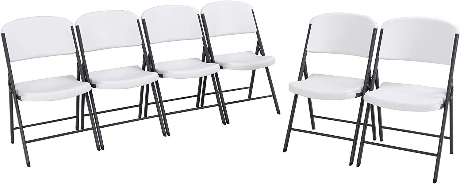 LIFETIME Commercial Grade supreme Folding Chairs Pack OFFicial site 6 Granite White
